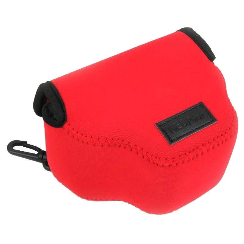 NEOpine Neopreen schokbestendige Camera Tas Hoes met Haak voor Canon SX510 Camera (rood)