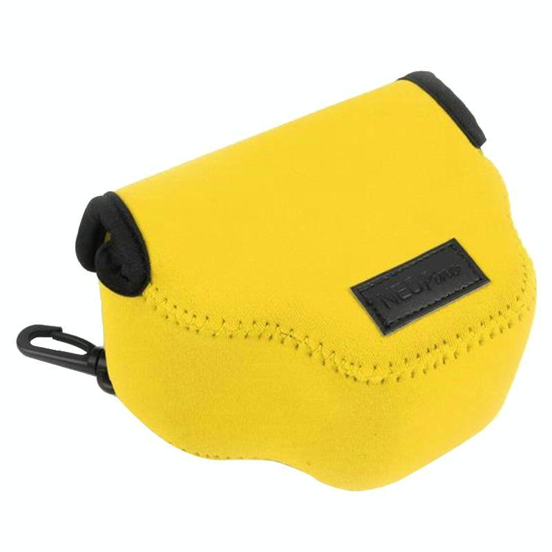 NEOpine Neopreen schokbestendige Camera Tas Hoes met Haak voor Canon SX510 Camera (geel)