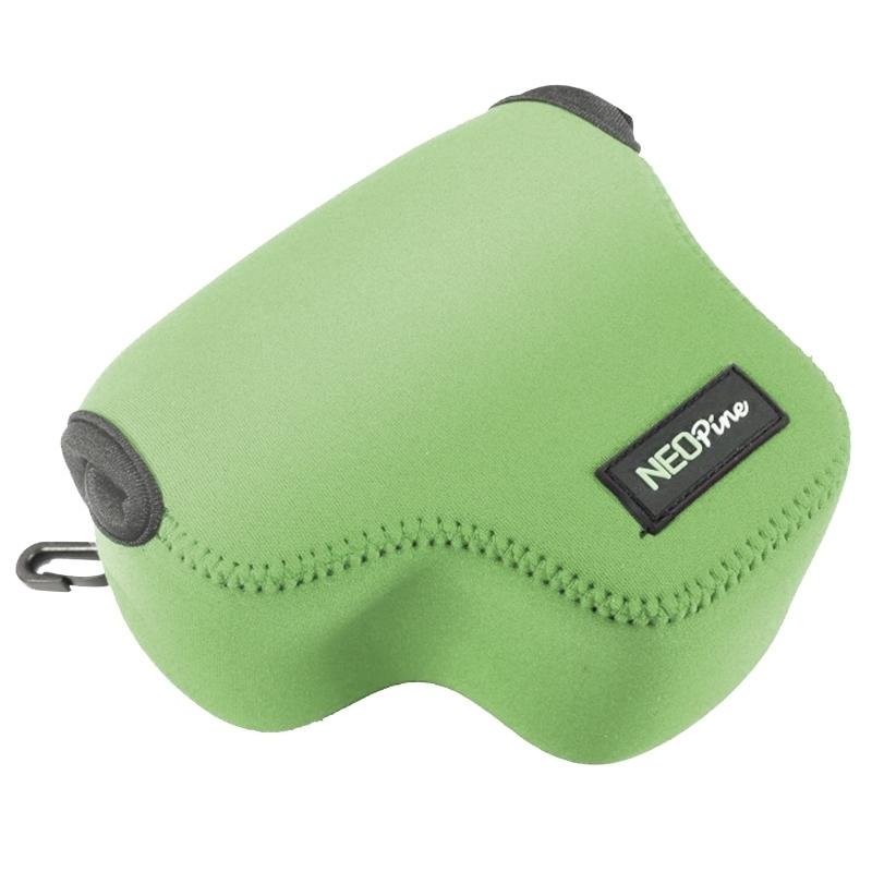 NEOpine Neopreen schokbestendige Camera Tas Hoes met Haak voor Canon PowerShot G3X Camera (groen)