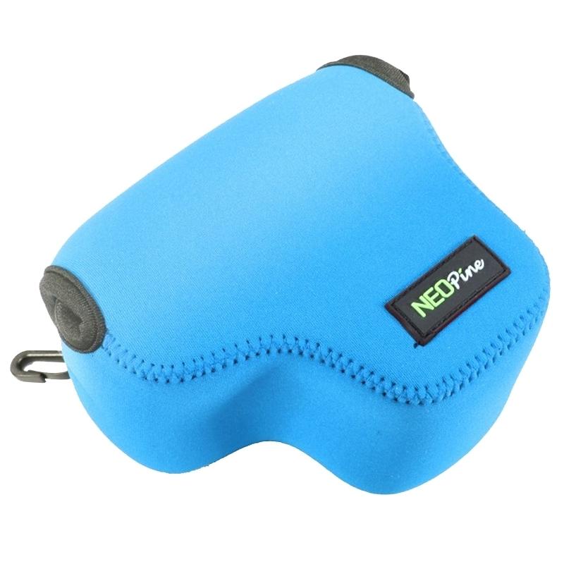 NEOpine Neopreen schokbestendige Camera Tas Hoes met Haak voor Canon PowerShot G3X Camera (blauw)