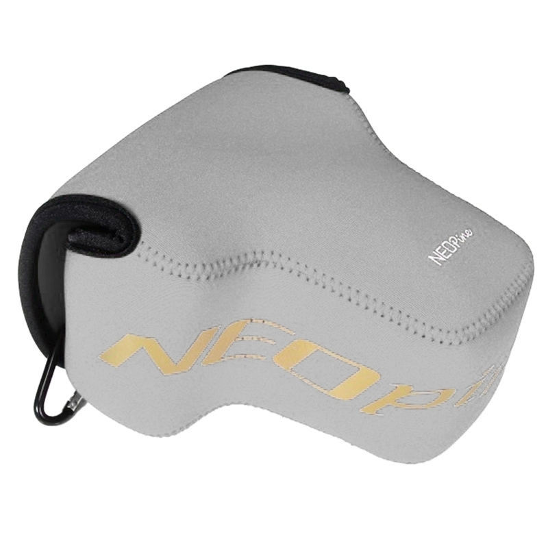 NEOpine Neopreen schokbestendige Camera Tas Hoes met Haak voor Nikon P900s Camera (grijs)