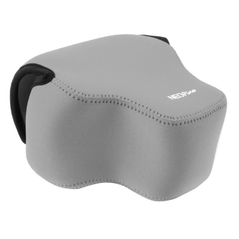 NEOpine Neopreen schokbestendige Camera Tas Hoes met Haak voor Panasonic FZ1000 Camera (grijs)