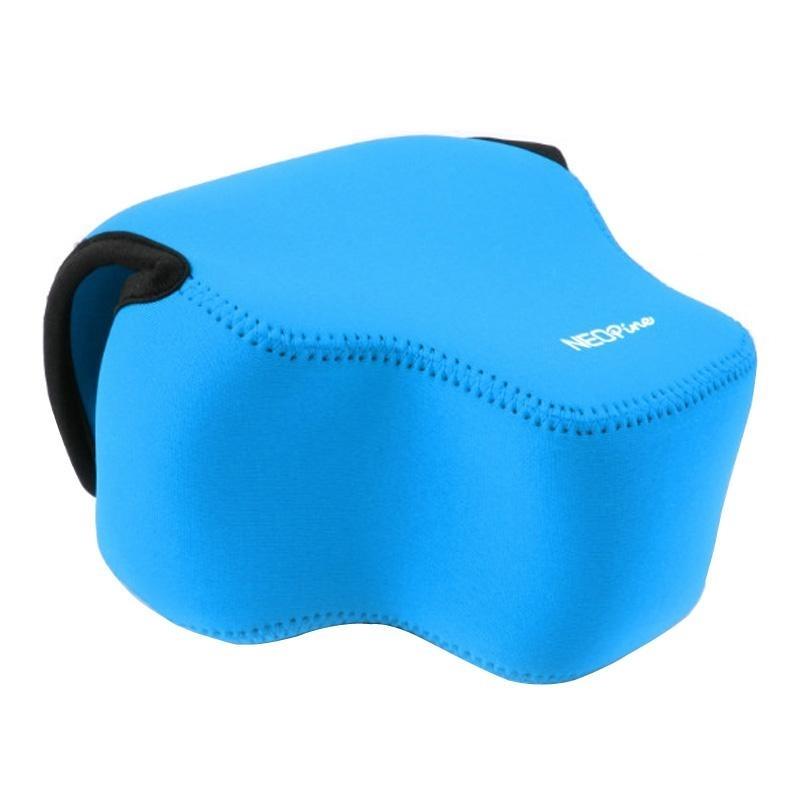 NEOpine Neopreen schokbestendige Camera Tas Hoes met Haak voor Panasonic FZ1000 Camera (blauw)