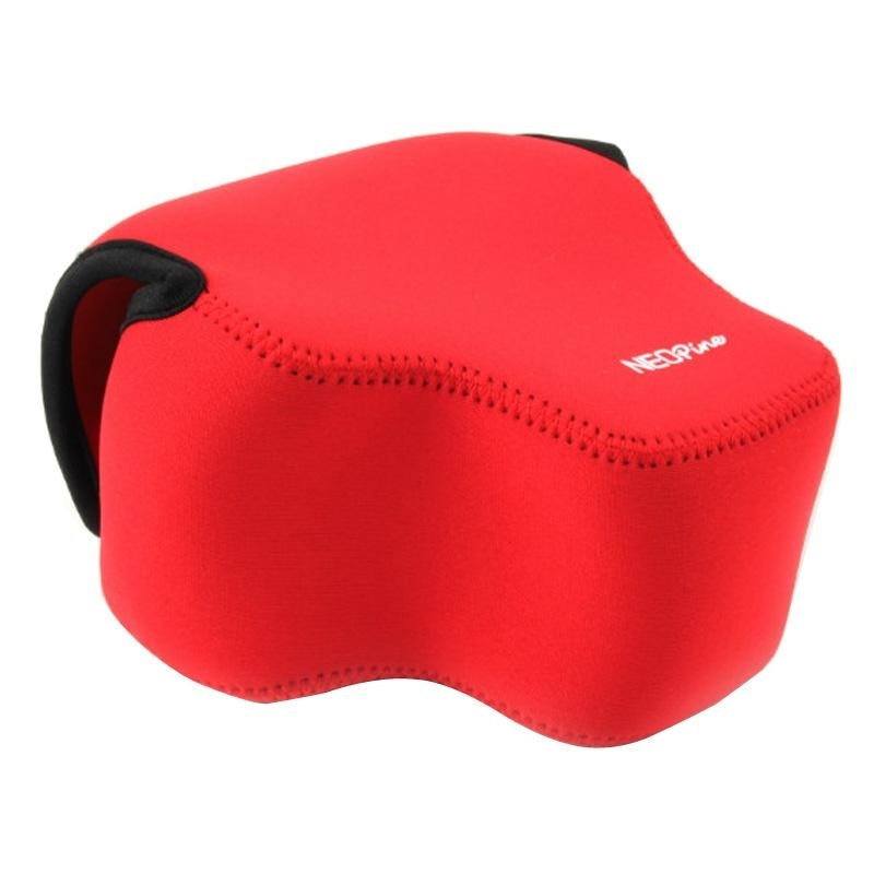 NEOpine Neopreen schokbestendige Camera Tas Hoes met Haak voor Panasonic FZ1000 Camera (rood)