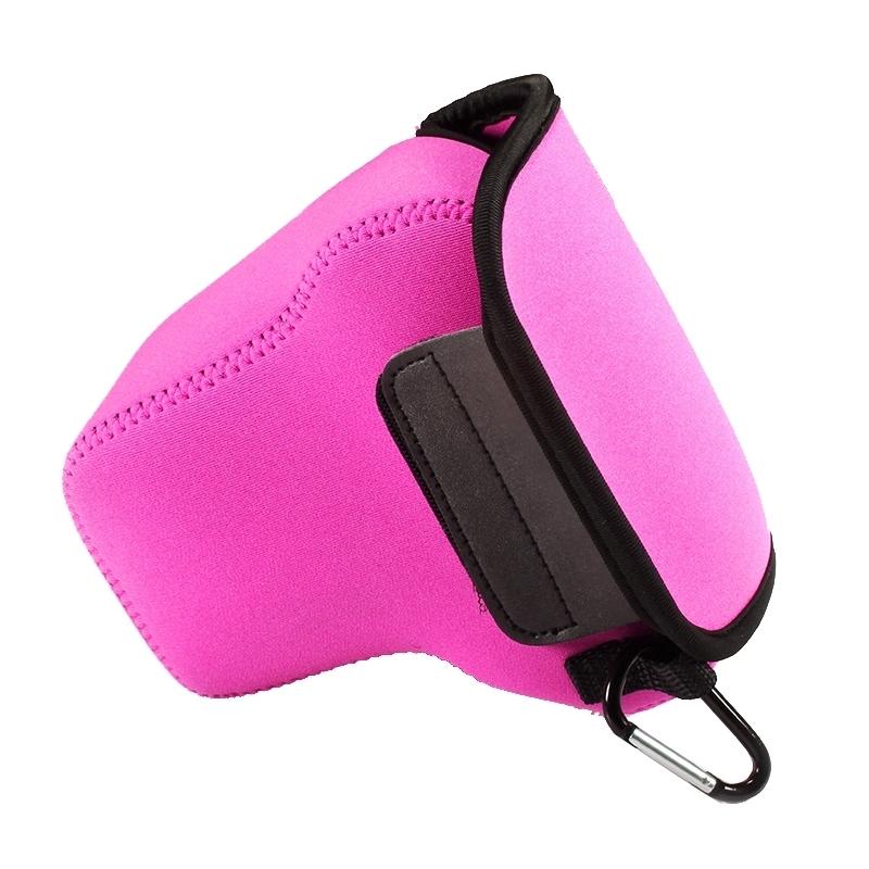 NEOpine Neopreen schokbestendige Camera Tas Hoes met Haak voor Panasonic GX8 Camera (hard roze)
