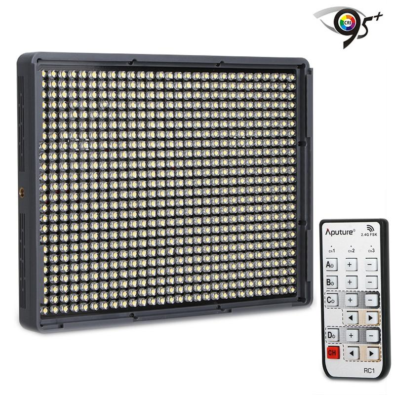 Aputure Amaran HR672S CRI 95+ Studio LED Videolamp flikkervrij instelbaar Licht met 2.4GHz draadloze Afstandsbediening