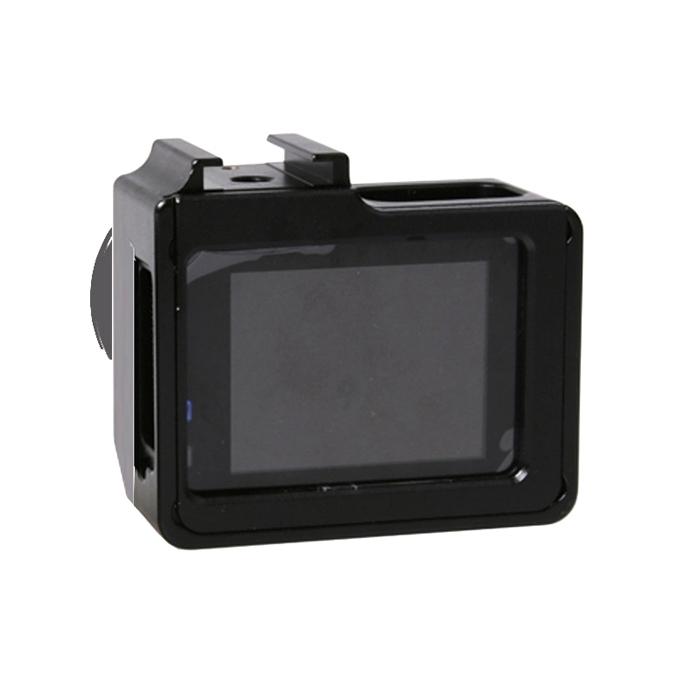 universeel aluminiumlegering beschermings hoesje met 40.5mm UV Filter & Lens beschermings Cap voor SJCAM SJ4000 & SJ4000 Wifi & SJ4000 + Wifi & SJ6000 & SJ7000 Sport actie Camera(zwart)