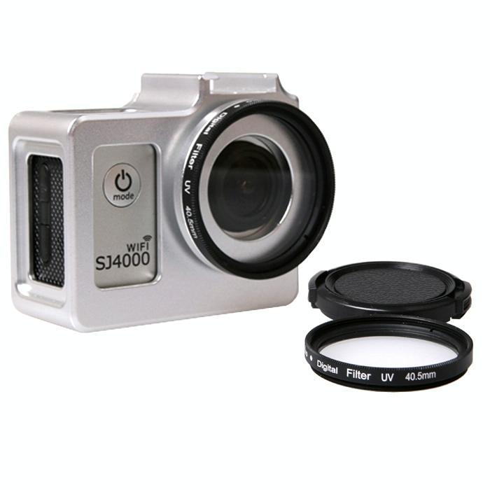 universeel aluminiumlegering beschermings hoesje met 40.5mm UV Filter & Lens beschermings Cap voor SJCAM SJ4000 & SJ4000 Wifi & SJ4000 + Wifi & SJ6000 & SJ7000 Sport actie Camera(zilver)