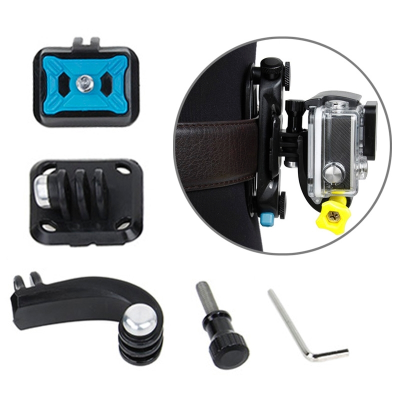 TMC HR315 4 in 1 camera's taille Buckle Adapter ingesteld voor GoPro HERO4 /3+ /3 nl Xiaomi Yi Sport Camera