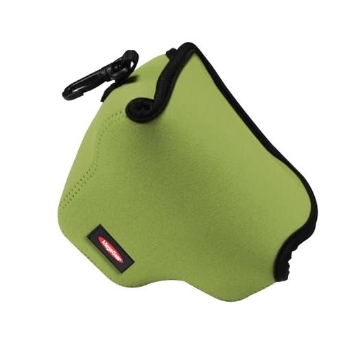 Portable Mini Neopreen Camera Tas Hoes voor Canon SX520 HS, Afmetingen: 10 x 10 x 13 cm (groen)