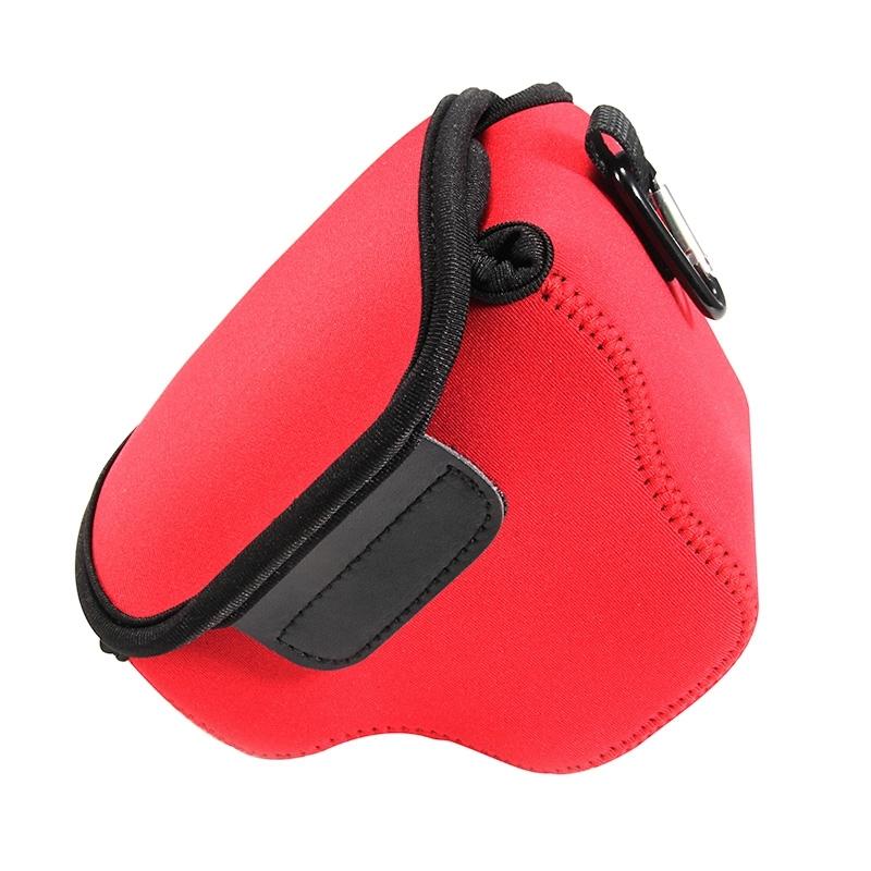 Portable Mini Neopreen Camera Tas Hoes voor Canon SX520 HS, Afmetingen: 10 x 10 x 13 cm (rood)