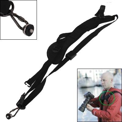 Snelle & Veilige Camera Sling Strap met onderarm Stabilisator (zwart)