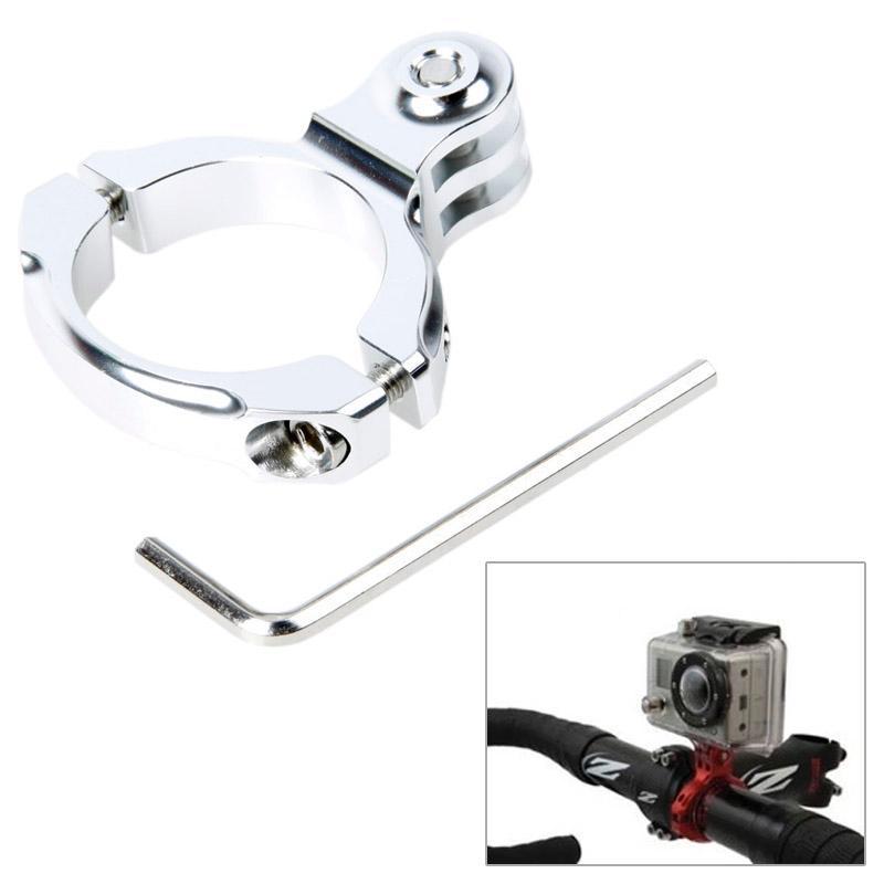 TMC aluminium Handle Bar Standaard stuurhouder voor GoPro Hero 4 / 3 + / 3 / 2 / 1  inwendige Diameter: 31.8mm(zilver)