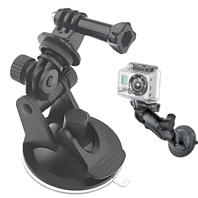 ST-51 Mini Car Zuignap statief Adapter + 7CM Diameter Base Mount voor GoPro HERO4 / 3 + / 3 / 2 / 1(zwart)