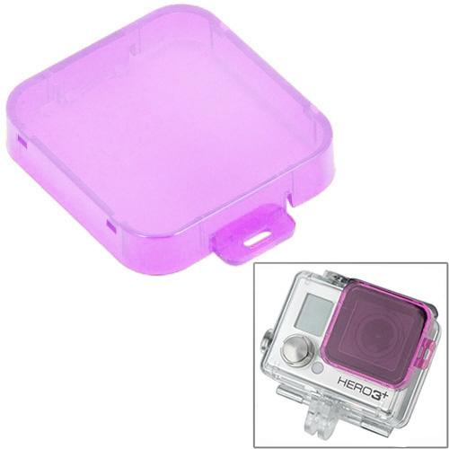 Snap-on duik filterhuis voor HD GoPro Hero 4 / 3+(Purple)