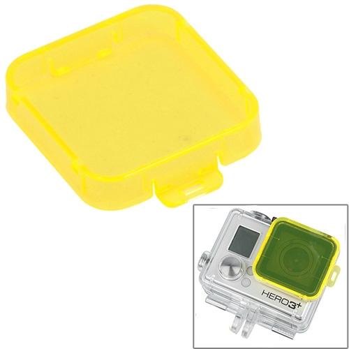 Snap-on duik filterhuis voor HD GoPro Hero 4 / 3 + ST-132(Yellow)