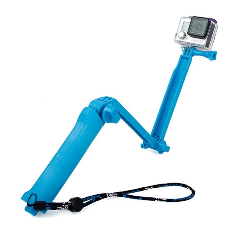 TMC 3-weg Handheld Monopod + statief + riem draagbare Magic Mount Selfie Stick voor GoPro HERO4 hand / 3 + / 3 / 2 / 1  SJ4000