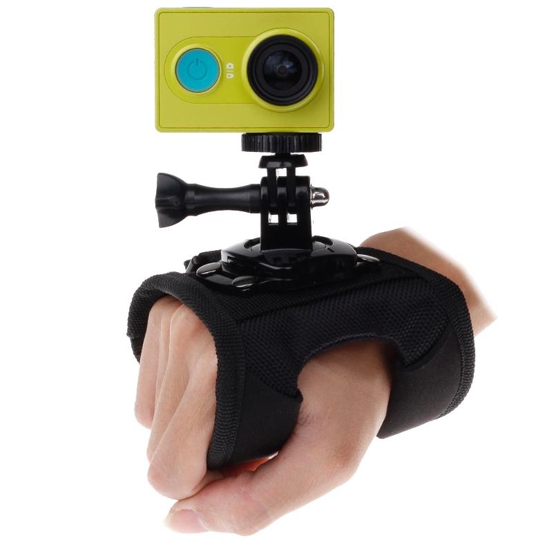 360 graden draaiend handschoen stijl Strap Mount pols riem Palm houder met schroeven nl Adapter voor Xiaomi Yi Sport Camera / GoPro Hero4 / 3 + / 3 / 2 / 1, Afmeting: 45 x 11 cm