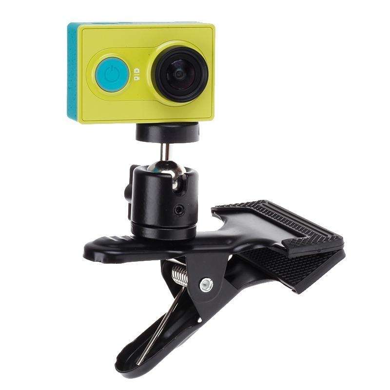 360 graden draaiend rugzak Hat Clip Fast Clamp Mount voor Xiaomi Yi Sport Camera