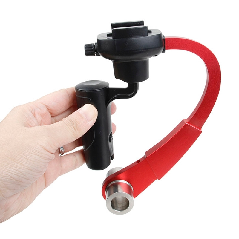 Special Stabilizer Bow Type Balancer Selfie Stick Monopod Mini Tripod voor GoPro HERO4 /3+ /3(rood)