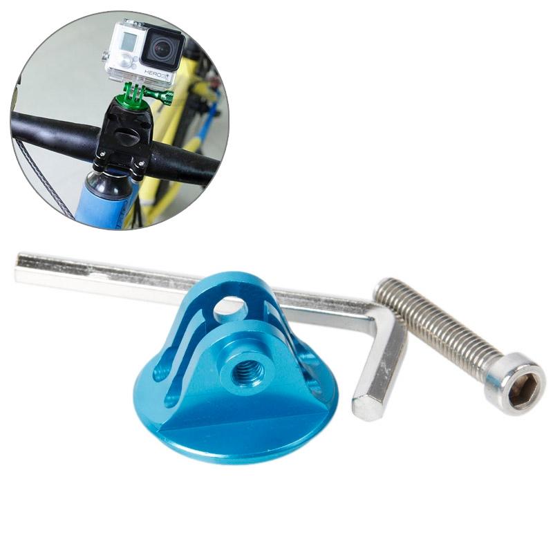 TMC hoofd stuurhouder met schroeven & Hex-schroevendraaier voor GoPro Hero 4 / 3 + / 3 / 2 / 1(blauw)