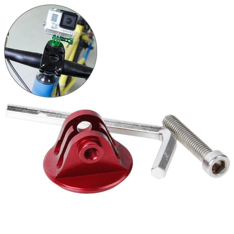 TMC hoofd stuurhouder met schroeven & Hex-schroevendraaier voor GoPro Hero 4 / 3 + / 3 / 2 / 1(rood)