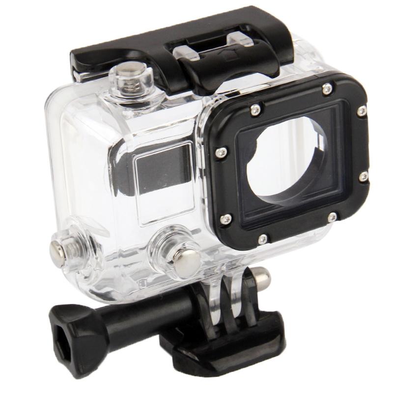 Waterdicht huisvesting beschermings hoesje voor GoPro HERO3-Camera (Zwart + Transparant)