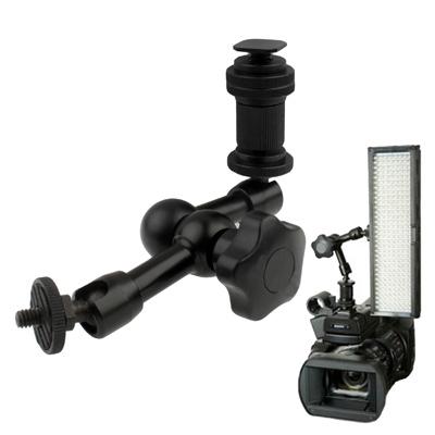 7 inch gelede arm voor dslr camera zaklamp magic / licht led / LCD-monitor(zwart)