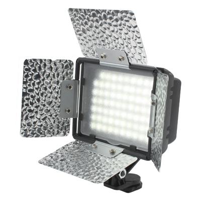 70 led video licht met drie kleur temperatuur transparante films (tawny / wit / paars)