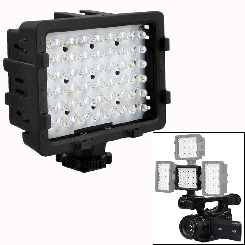 48-led video licht ontmoet 3 filters voor camera / video camcorder (cn - 48u)