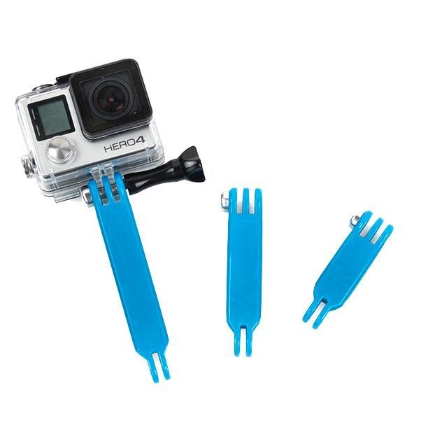 TMC 3 in 1 Nylon extensie Arm ingesteld voor GoPro Hero4 / 3 + / 3 / 2 / 1(blauw)