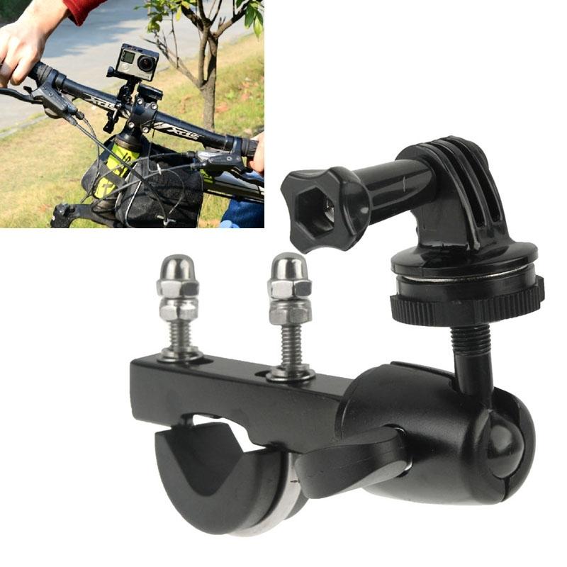 Stuur grote paal monteren fiets Moto fiets zadelpenklem met Tripod Mount Adapter & schroeven voor GoPro Hero 4 / 3 + / 3 / 2 / 1 / Mini Camera / Mini DV