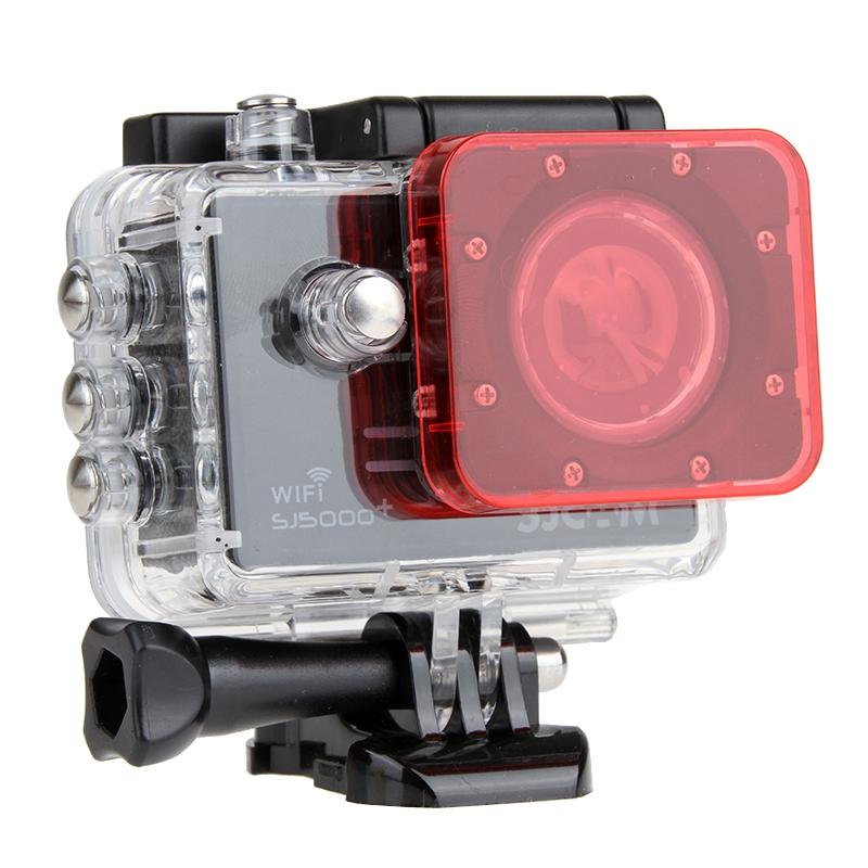 Transparant Lens Filter voor SJCAM SJ5000 Sport Camera & SJ5000 Wifi & SJ5000+ Wifi Sport DV Actie Camera (roze)