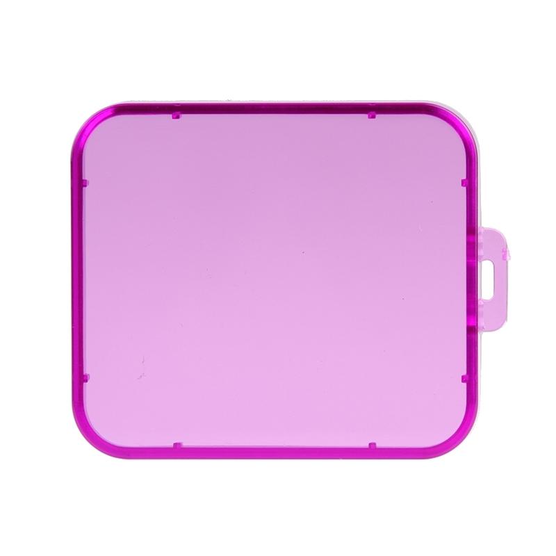 Transparant Lens Filter voor SJCAM SJ5000 Sport Camera & SJ5000 Wifi & SJ5000+ Wifi Sport DV Actie Camera (paars)