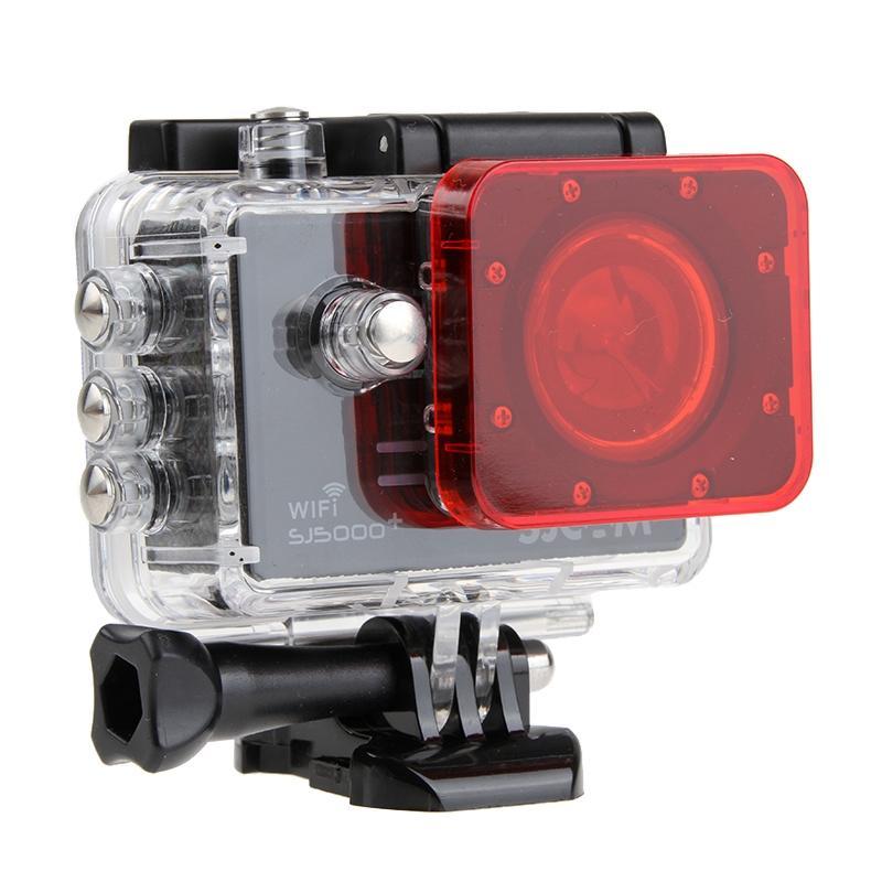 Transparant Lens Filter voor SJCAM SJ5000 Sport Camera & SJ5000 Wifi & SJ5000+ Wifi Sport DV Actie Camera (rood)