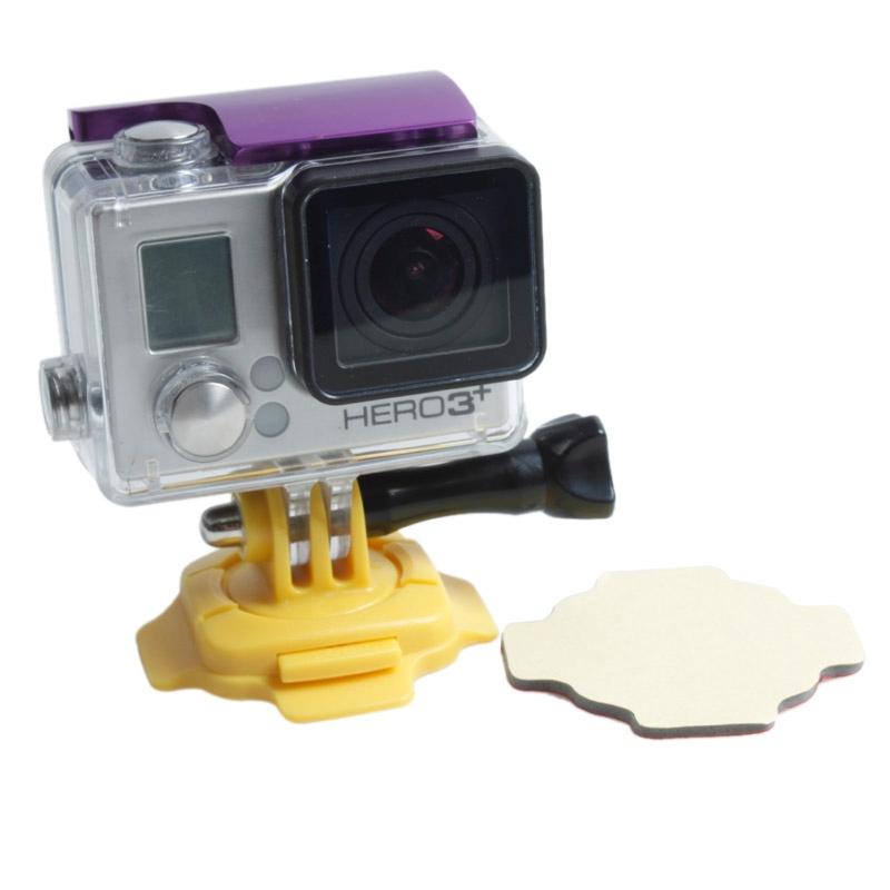 TMC 360 graad Mount voor GoPro Hero 4 / 3 + / 3 / 2 / 1  HR107(geel)