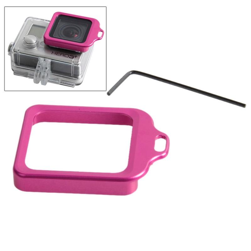Lens Kit (aluminium Lanyard Ring Mount & schroevendraaier) voor GoPro HERO 4 / 3+(Magenta)