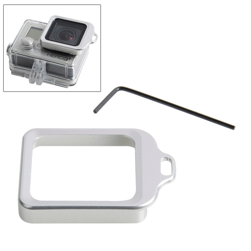 Lens Kit (aluminium Lanyard Ring Mount & schroevendraaier) voor GoPro HERO 4 / 3+(Silver)