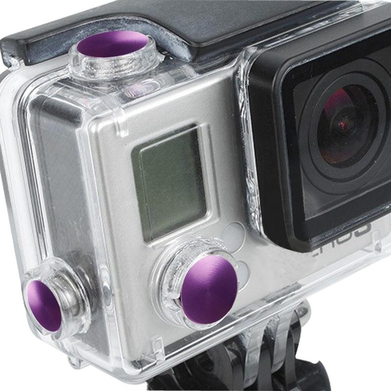 3 PC's TMC aluminium geanodiseerd Kleur knop ingesteld voor GoPro Hero 3 +
