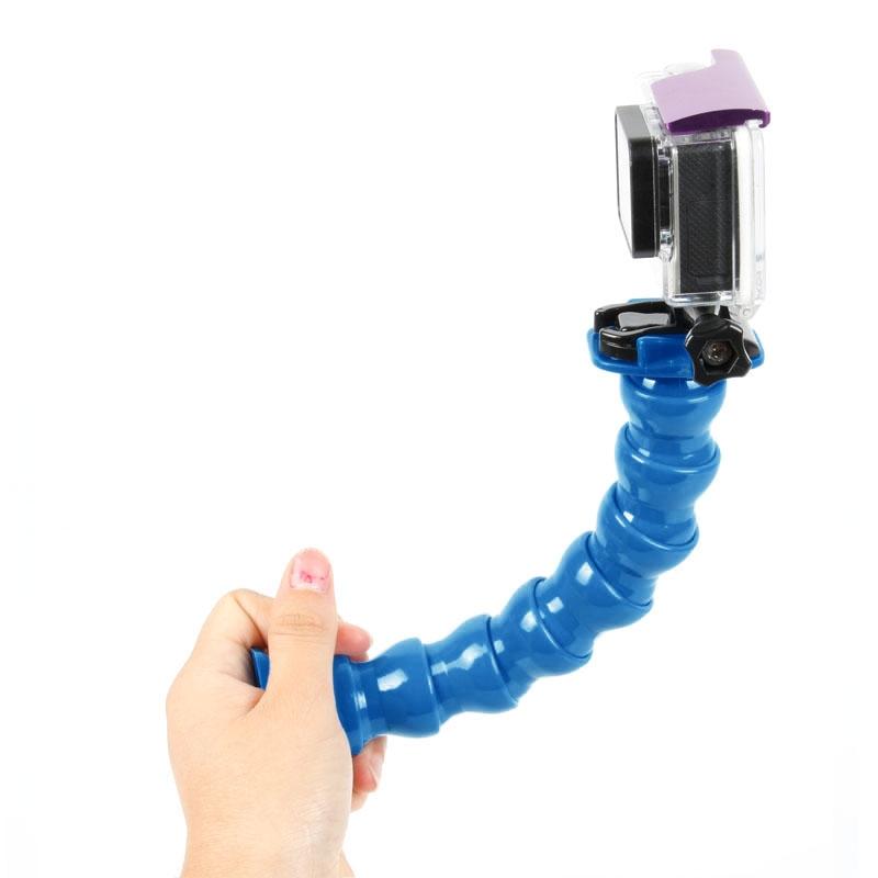 TMC 7 gezamenlijke 360 graden draaibaar verstelbare nek voor GoPro Hero 4 / 3 + / 3 / 2 / 1 Flex Clamp Mount(blauw)