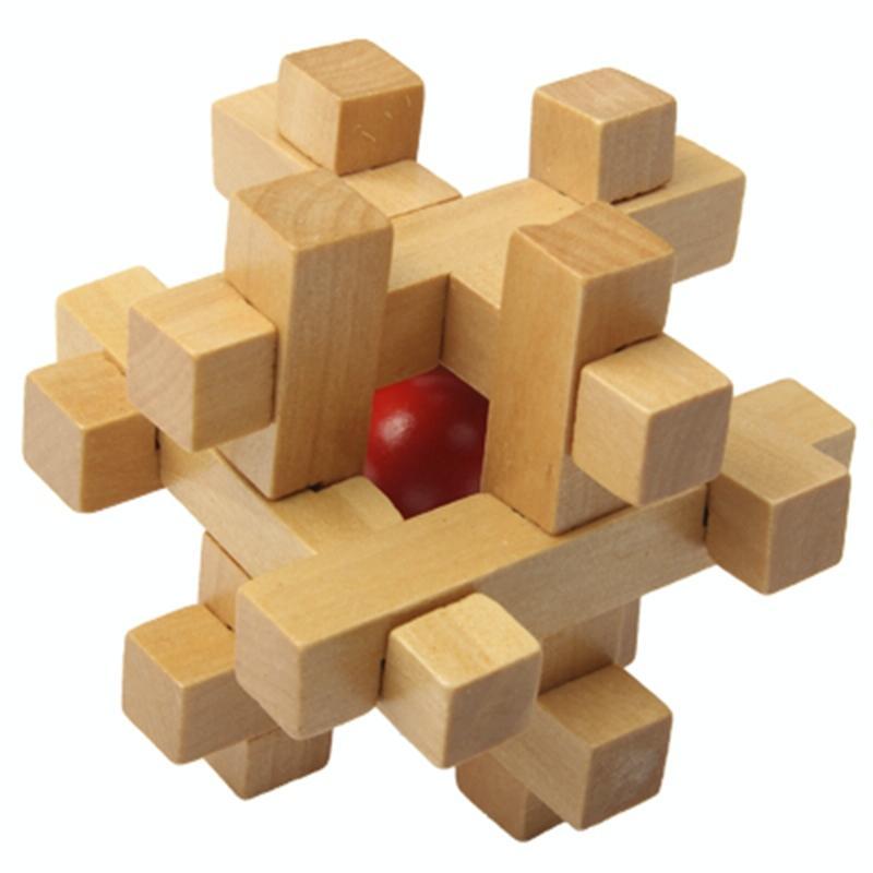 Afbeelding van Volwassen educatieve speelgoed recreatieve houten speelgoed Kongming Lock