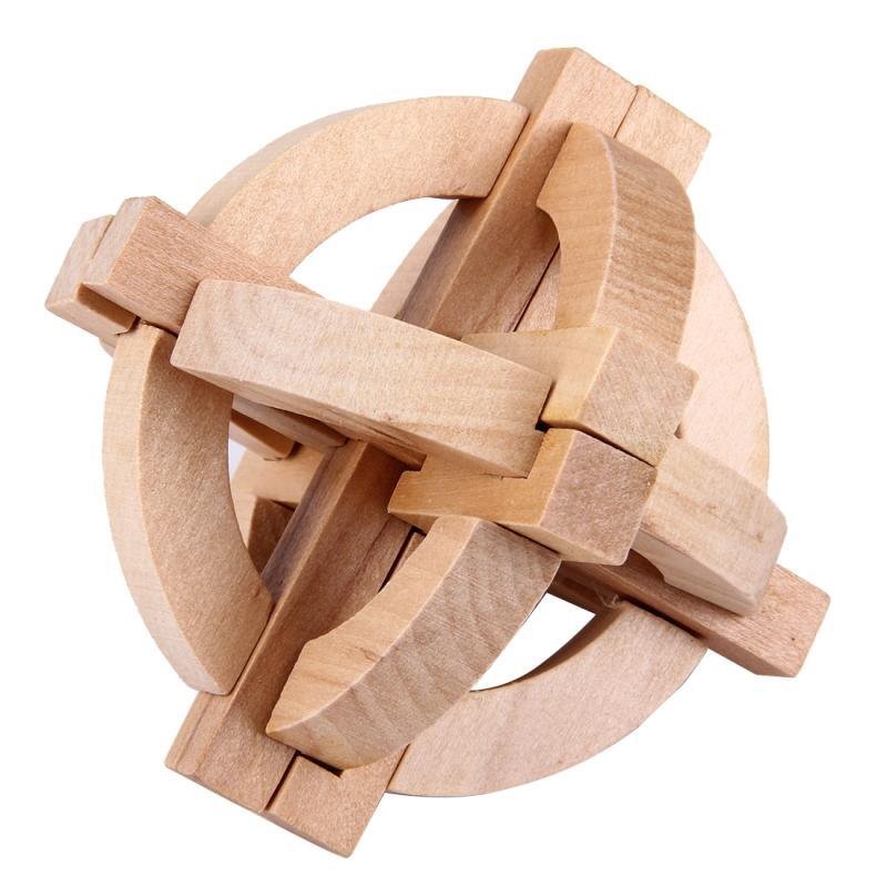 Afbeelding van houten volwassen educatieve speelgoed recreatieve speelgoed Kongming Ball