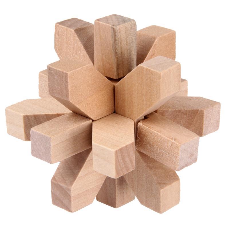 Afbeelding van houten volwassen educatieve speelgoed recreatieve speelgoed Wintersweet Lock
