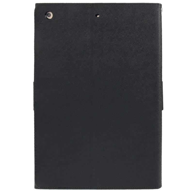 Kruis structuur lederen hoesje met opbergruimte voor pinpassen opberg vakje & houder voor iPad Air(zwart)