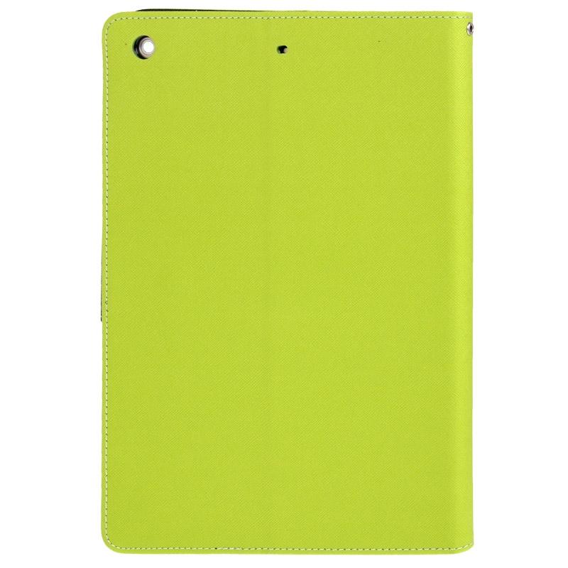 Kruis structuur lederen hoesje met opbergruimte voor pinpassen opberg vakje & houder voor iPad Air(groen)
