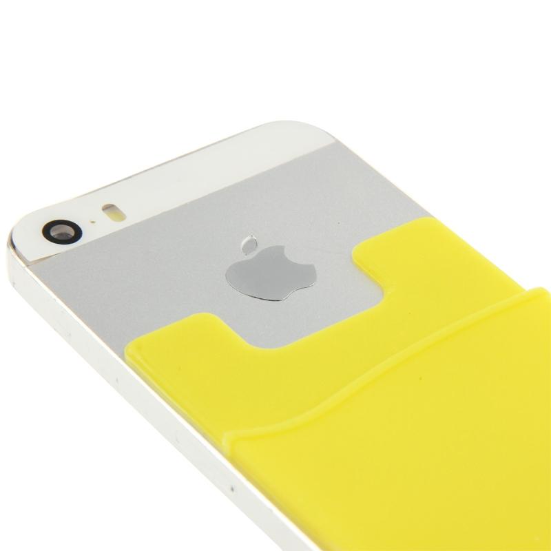 Smart portemonnee siliconen Card Pocket voor iPhone 6 & iPhone 6S / iPhone 5 & 5C & 5S / iPhone 4 & 4S, en voor All the mobiele telefoons(geel)