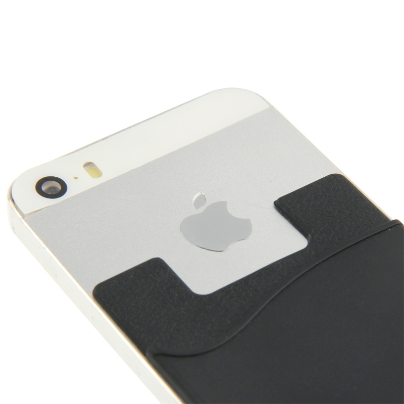 Smart portemonnee siliconen Card Pocket voor iPhone 6 & iPhone 6S / iPhone 5 & 5C & 5S / iPhone 4 & 4S, en voor All the mobiele telefoons(zwart)