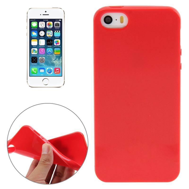 iPhone 5 & 5S & SE Gekleurd Kunststof back cover Hoesje (rood)