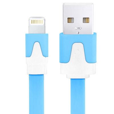 Platte Noodle Stijl USB Sync Data / laad Kabel voor iPhone 6 / 6S & 6 Plus / 6S Plus, iPhone 5 & 5S & 5C, iPad Air, iPad mini, mini 2 Retina, Kabel Lengte: 1 meter