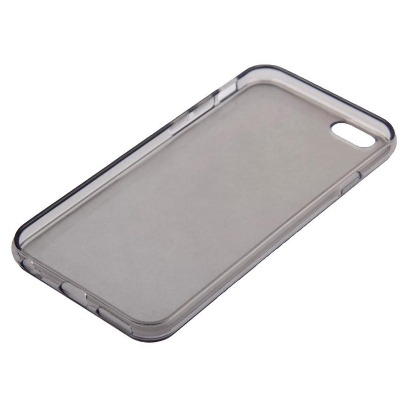iPhone 6 & 6S doorschijnend TPU back cover Hoesje (grijs)